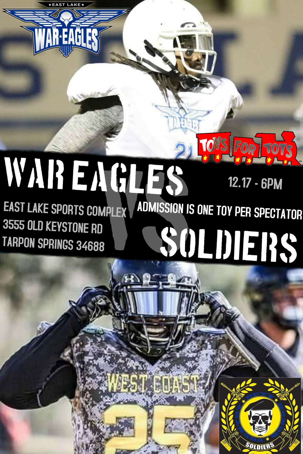 821c6db8ad5 2nd Annual Toys For Tots Game. Come support your War Eagles Football ...