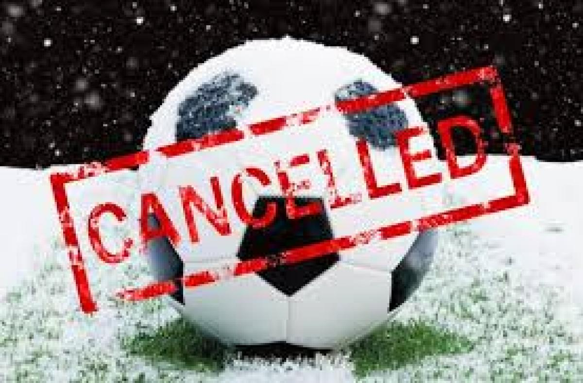 February 8th Games Cancelled