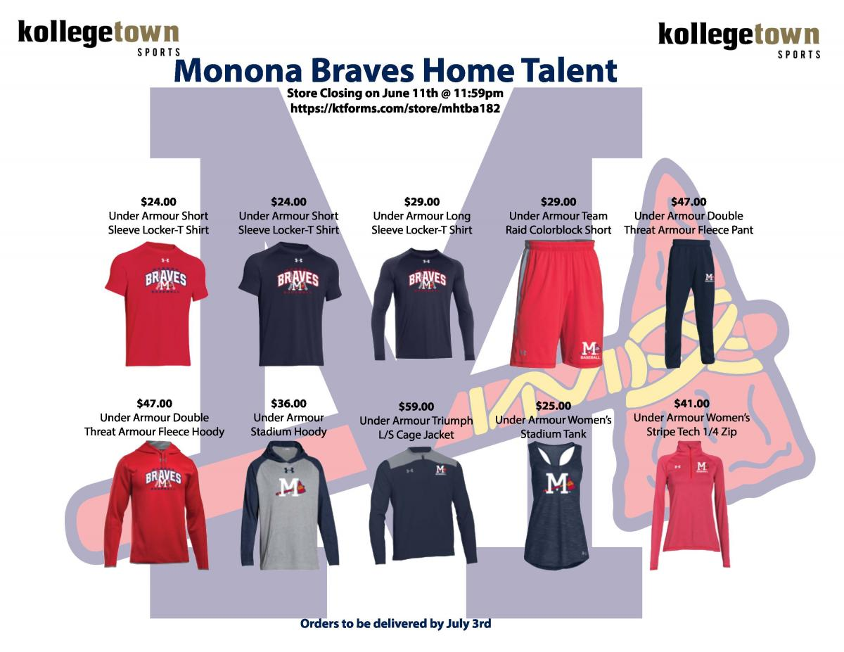 REOPENED - Monona Braves Apparel 2018