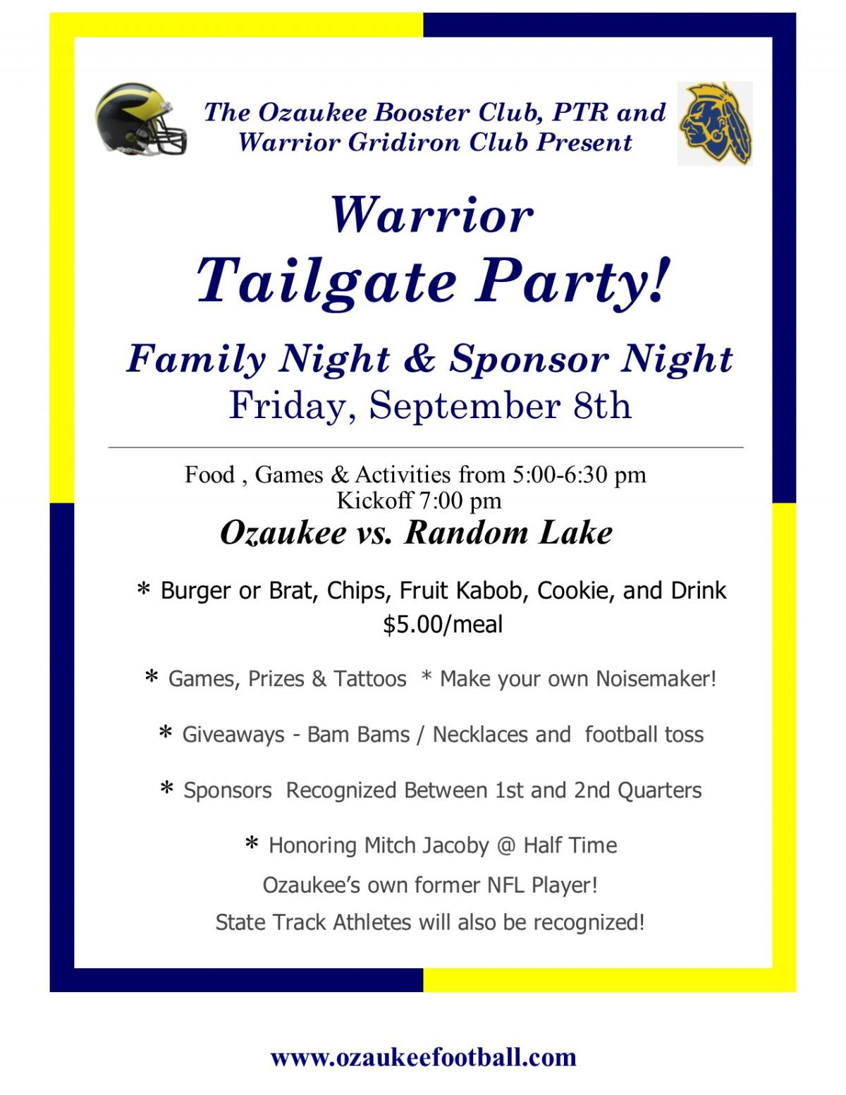 Annual Tailgate Party this Friday!