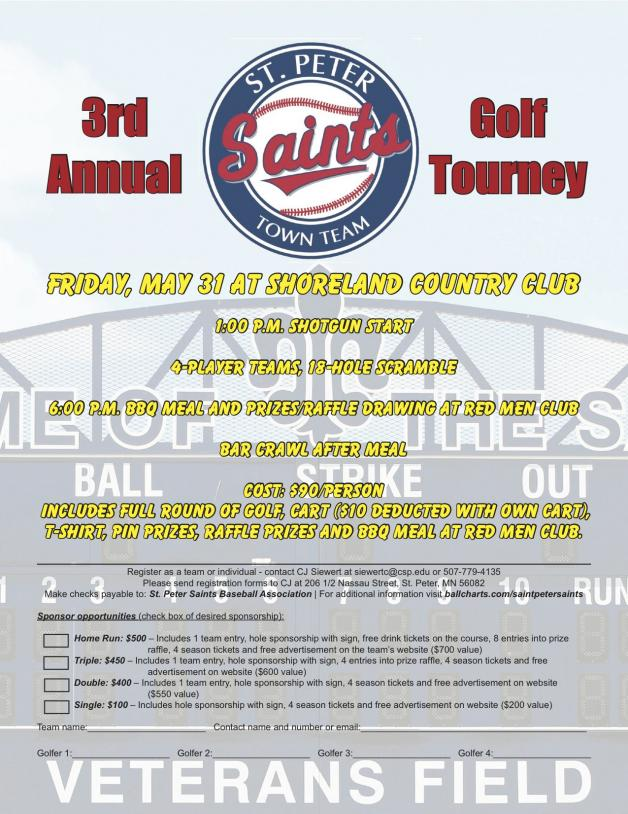 Annual golf tourney set for May 31