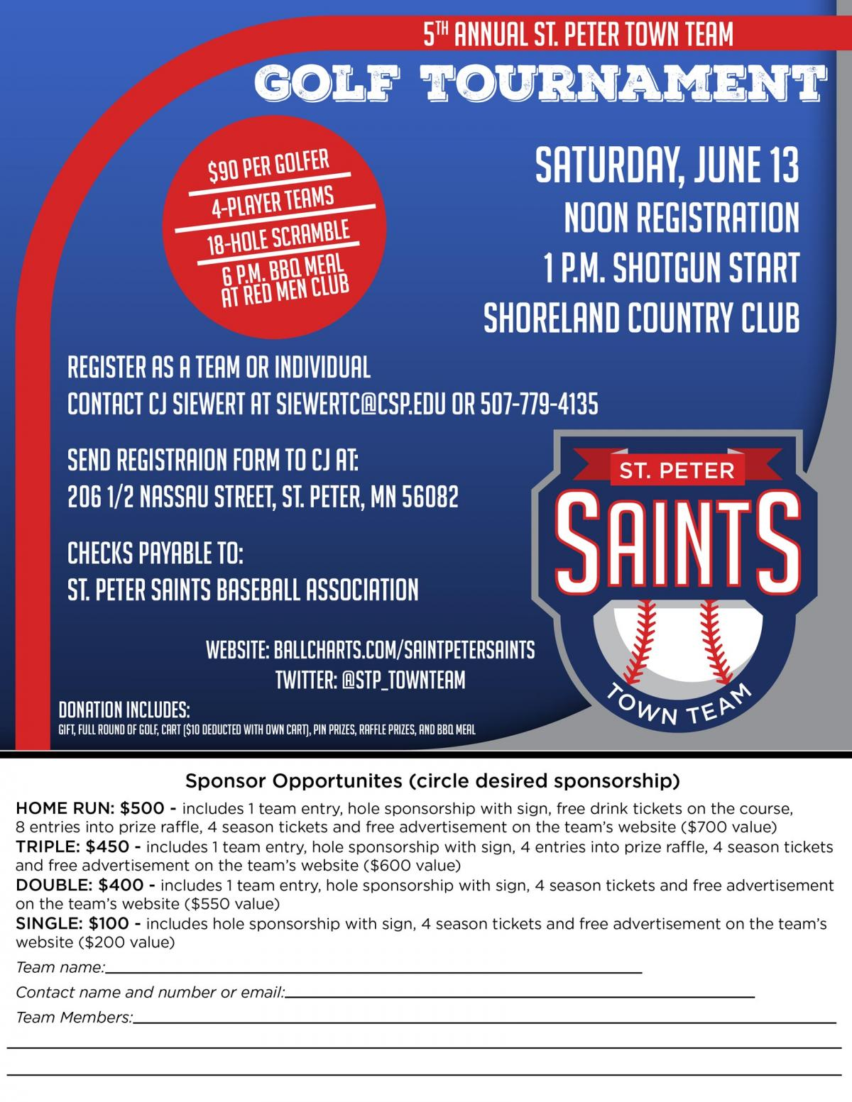 5th annual golf tourney set for June 13