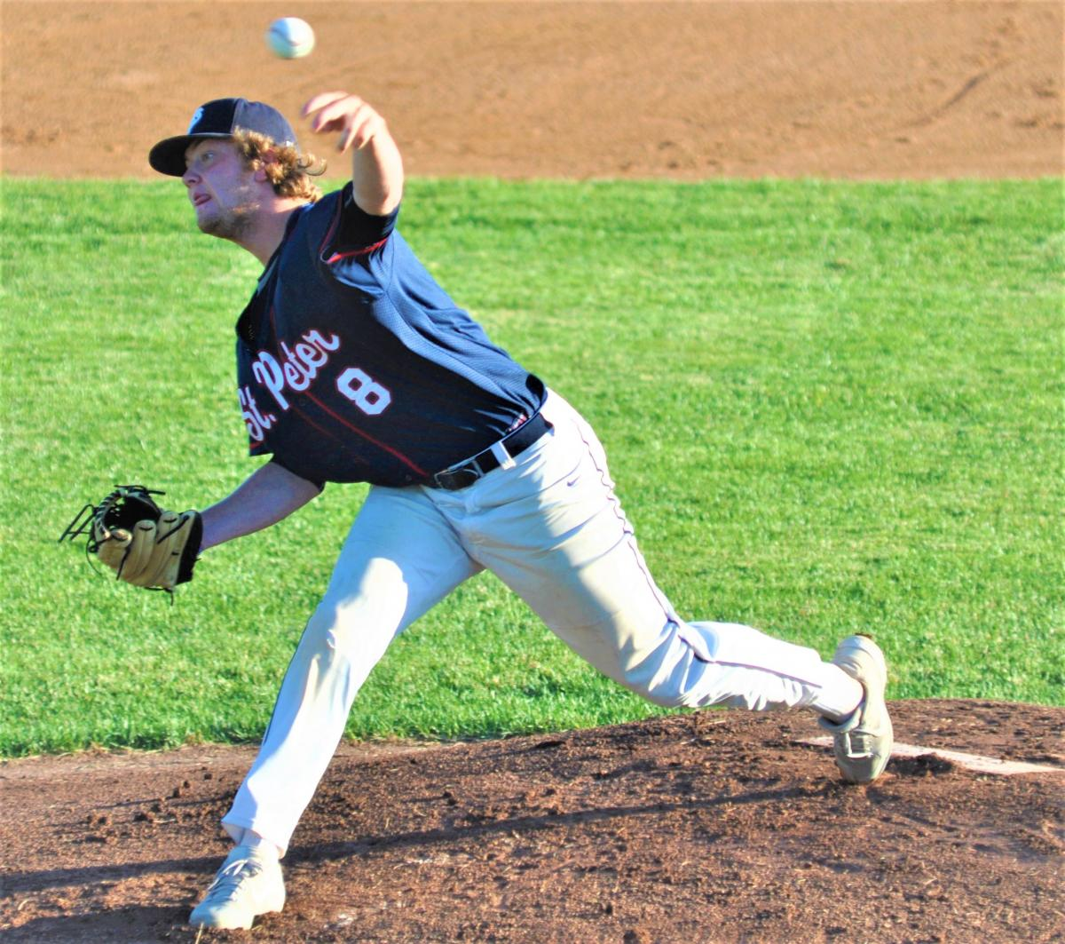 St. Peter bats come alive late in 10-0 win over Le Sueur; Little pitches shutout