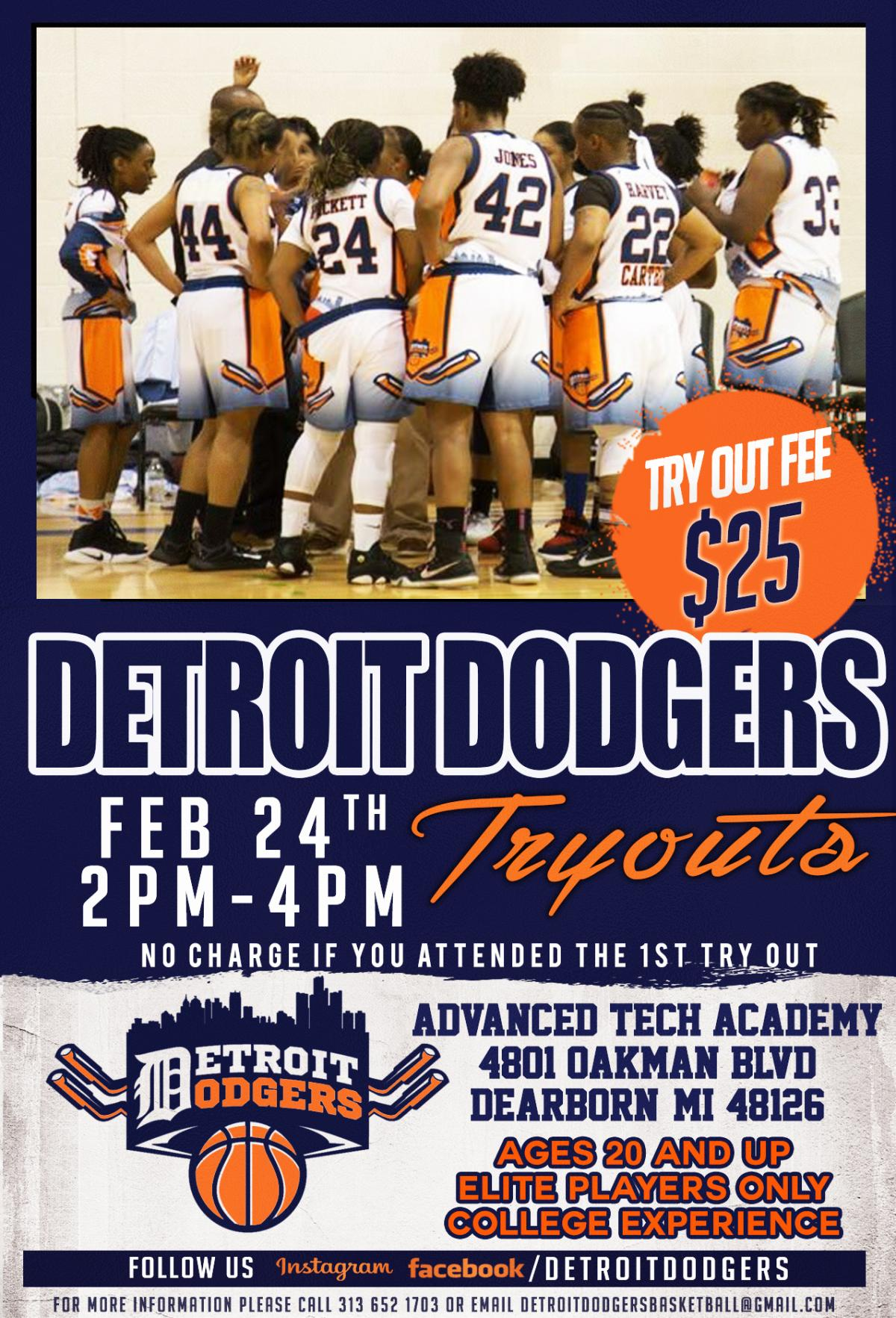 Detroit Dodgers' Try Out