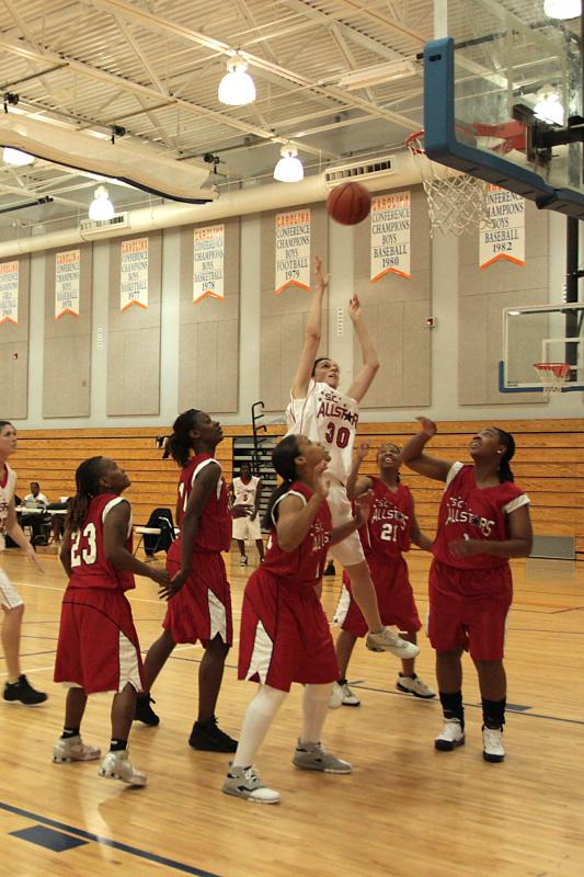 Rachel goes in for a layup!!!