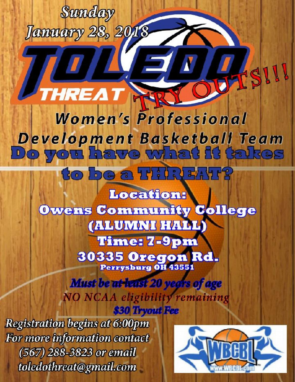 TOLEDO THREAT 2018 TRYOUTS